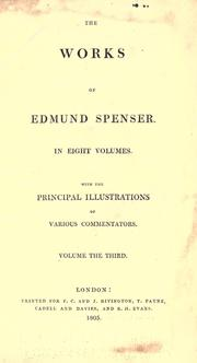Cover of: The works of Edmund Spenser | Edmund Spenser