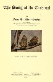 Cover of: The Song of the Cardinal by Gene Stratton-Porter