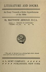 Cover of: Literature and dogma by Matthew Arnold