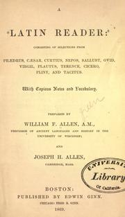 Cover of: A Latin reader by William Francis Allen