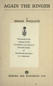 Cover of: Again the Ringer by Edgar Wallace