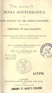Cover of: Roma sotterranea by Giovanni Battista de Rossi