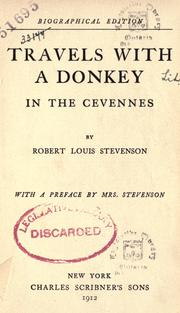Cover of: Travels with a donkey in the Cevennes by Robert Louis Stevenson