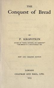 Cover of: Conquête du pain by Peter Kropotkin