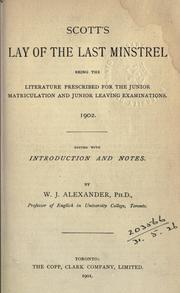 Cover of: The lay of the last minstrel by Sir Walter Scott