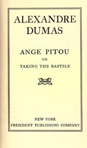 Cover of: Ange Pitou by Alexandre Dumas
