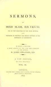 Cover of: Sermons by Blair, Hugh