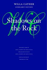 Cover of: Shadows on the rock by Willa Cather