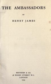 Cover of: The ambassadors by Henry James, Jr.