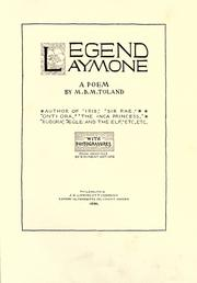 Cover of: Legend Laymore by M. B. M. Toland