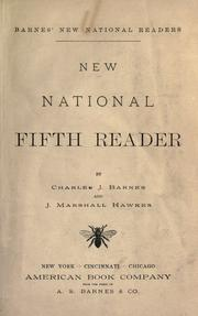 Cover of: New national fifth reader by Barnes, Charles J.