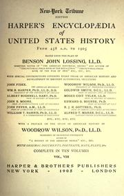 Cover of: Harper's encyclopædia of United States history from 458 A.D. to 1905 by Benson John Lossing