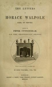 Cover of: The Letters of Horace Walpole by Horace Walpole