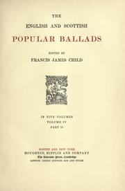 Cover of: The English And Scottish Popular Ballads by Francis James Child