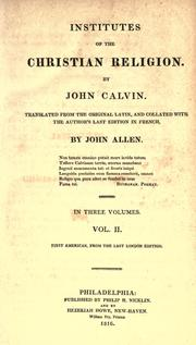 Cover of: Institutio Christianae religionis by Jean Calvin