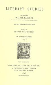 Cover of: Literary studies by Walter Bagehot
