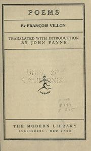 Cover of: Poems by François Villon