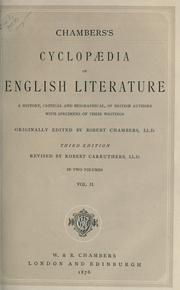 Cover of: Chambers's cyclopaedia of English literature by Chambers, Robert