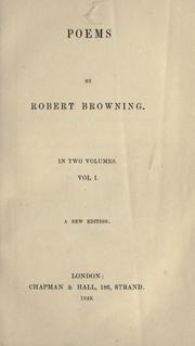 Cover of: Poems by Robert Browning