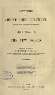 Cover of: Select letters of Christopher Columbus by Christopher Columbus