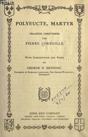 Cover of: Polyeucte by Pierre Corneille