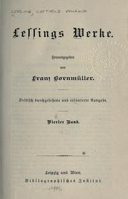 Cover of: Werke by Gotthold Ephraim Lessing