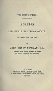 Cover of: The second spring by John Henry Newman