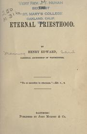 Cover of: The eternal priesthood by Henry Edward Manning