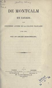 Cover of: De Montcalm en Canada by Félix Martin