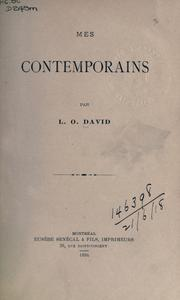 Cover of: Mes contemporains by L.-O David