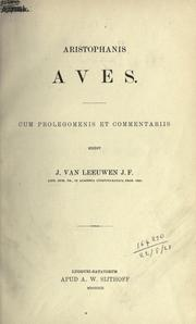 Cover of: Aristophanis Aves by Aristophanes