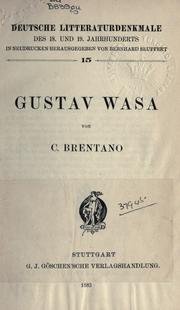 Cover of: ... Gustav Wasa by Clemens Brentano