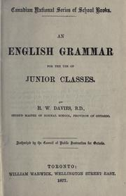 Cover of: An English grammar for the use of junior classes by H. W. Davies