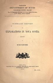 Cover of: Summary report on explorations in Nova Scotia, 1907 by Geological Survey of Canada.