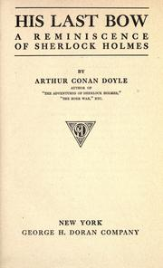Cover of: His Last Bow by Sir Arthur Conan Doyle