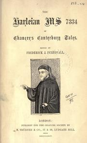 Cover of: Publications by Chaucer Society, London