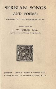 Cover of: Serbian songs and poems by James William Wiles