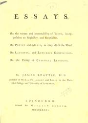 Cover of: Essays by James Beattie
