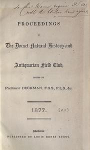 Cover of: Proceedings by Dorset Natural History and Archaeological Society