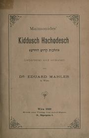 Cover of: Mishneh Torah by Moses Maimonides