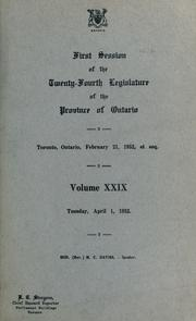 Cover of: Official report of debates (Hansard) by Ontario. Legislative Assembly.
