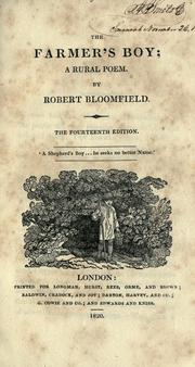 Cover of: The farmer's boy by Bloomfield, Robert