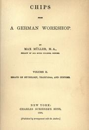Cover of: Chips from a German workshop by F. Max Müller