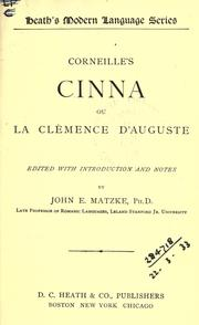 Cover of: Cinna by Pierre Corneille