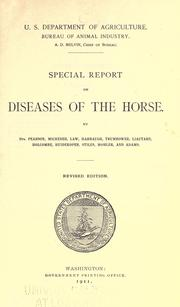 Cover of: Special report on diseases of the horse by United States. Bureau of Animal Industry.