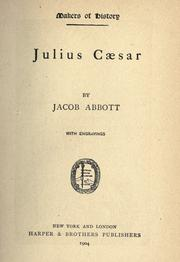 Cover of: Julius Cæsar by Jacob Abbott