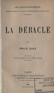 Cover of: La dbacle by mile Zola