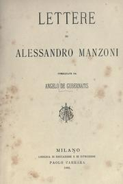 Cover of: Carteggio by Alessandro Manzoni