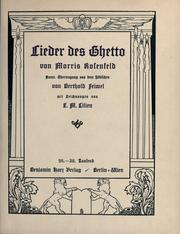 Cover of: Lider bukh by Rosenfeld, Morris
