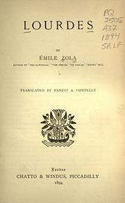 Cover of: Lourdes by Émile Zola